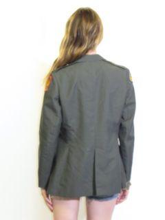 Vtg Military Army Green Uniform Coat Jacket Blazer