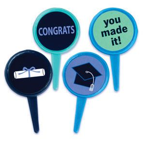 Graduation Applause Cupcake Picks Cake Toppers Congrats