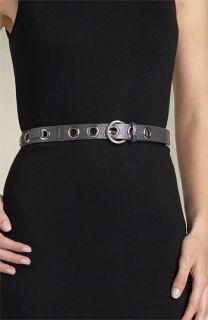 MICHAEL Michael Kors Grommet Patent Leather Belt