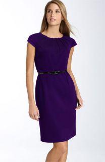 Calvin Klein Belted Ponte Knit Sheath Dress