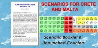Air Assault on Crete Scenarios with Counters Expansion Avalon Hill