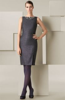 Blumarine Beaded Neck Sheath Dress