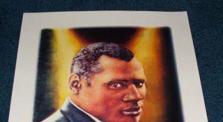 Daniel Galvez Lithograph Muralist Paul Robeson Beautifu
