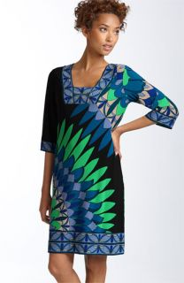 Donna Morgan Print Matte Jersey Shift Dress