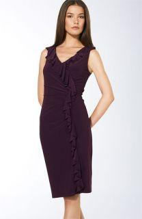 Lauren by Ralph Lauren Ruffle Matte Jersey Dress