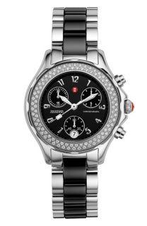 MICHELE Tahitian Diamond Stainless Steel & Ceramic Watch