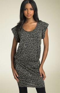 Ella Moss Animal Print Drawstring Dress
