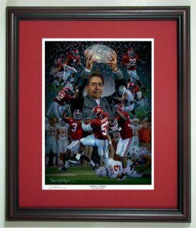 Alabama Football Daniel Moore Crimson Tradition Print