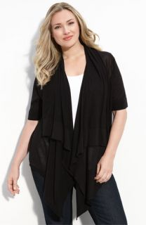 MICHAEL Michael Kors Sheer Short Sleeve Cardigan (Plus)