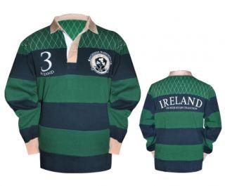 Croker Ireland Green Navy Rugby Shirt Jersey Size M L XL 2XL 3XL