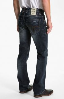 Rock Revival Allen Straight Leg Jeans (Dark Blue)