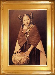 Hopi Girl with Jar Edward Curtis Native American Art