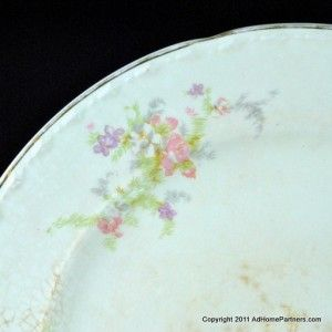 Crooksville China Dinner Plate Spring Blossom 10 inch Diam Vintage