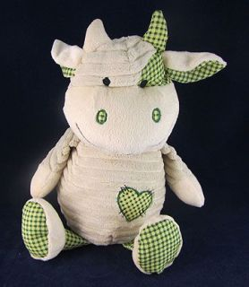 Dan Dee Ivory Corduroy Plush Stuffed Cow Bull Animal Soft Cute