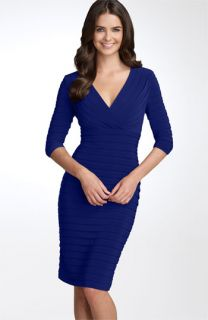 Adrianna Papell Pleated Jersey Sheath Dress (Petite)