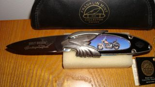 Harley Davidson Franklin Mint Heritage Softail Knife Revised OFFER