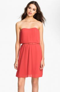 FELICITY & COCO Strapless Pleated Chiffon Dress ( Exclusive)
