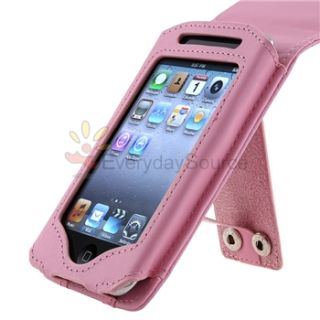 Pink Leather Case for Apple iPod Touch 3rd Generation