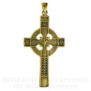 Bronze Celtic Knotwork Cross Jewelry Necklace Knot Pendant Christian