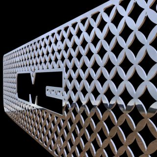 98 chrome mesh grille insert stainless steel trim cover custom grille