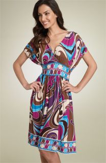 Maggy London Dolman Sleeve Print Matte Jersey Dress