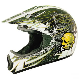 THH TX 10 Web Yellow Full Face Motorcross Racing Dirt Bike Helmet