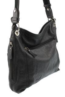 Kingston Black Textured Shoulder Crossbody Handbag Medium BHFO