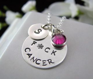 Awareness Sterling Silver Hand Personalized Necklace Engraved