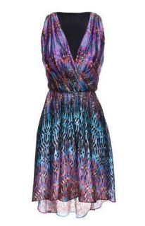 CYNTHIA ROWLEY Printed Dancing Dress Sexy Low Cut New with tags 100%