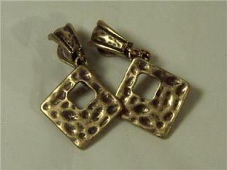 Premier Designs Antique Gold Brass Bali Earrings New