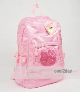 Cute Pink Large Cat Lovely Bag Backpack School Student Tote Bag