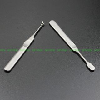 Cuticle Cleaner Pusher Manicure Round Tip Stainless Steel Nail Cuticle