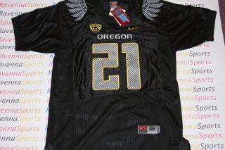 LaMichael James Signed Oregon Ducks Nike Carbon Black 2012 Jersey PSA