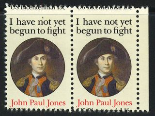 US 1979 John Paul Jones Pair 15c 15c US Bicentennial