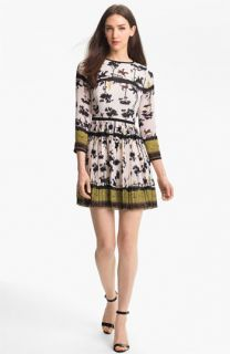 Ted Baker London Cameo Print Fit & Flare Dress