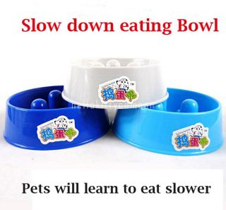Slow Feeder Pet Bowl Non Slip Puppy Cat Dog Food Water Bowl New