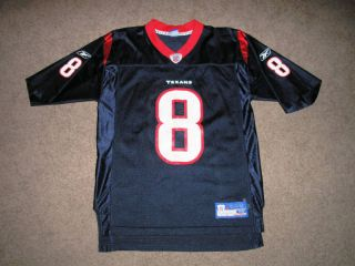 DAVID CARR 8 Houston Texans NFL Football Jersey Adult Med Men Boys