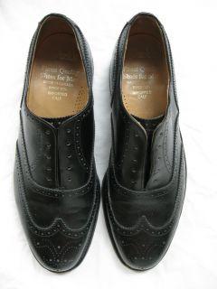 Dacks Canadian Black Leather Wingtip Dress Shoes 10 F