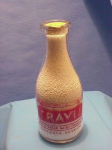 One Quart 1 11 14 Travis Dairy Cynthiana Ky Milk Bottle