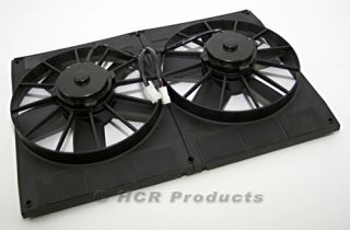 Electric Cooling Fans with Shroud 3000 CFM Muscle Car Hot Rod