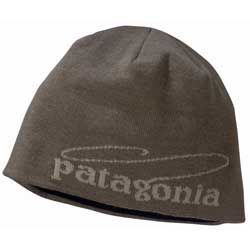 Patagonia Fly Fishing Beanie Hat Cap Casting Logo Green