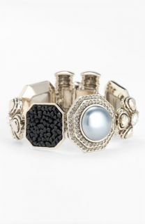 St. John Collection Swarovski Crystal & Glass Pearl Bracelet