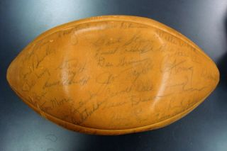 1965 Green Bay Packers Team Signed Football w Vince Lombardi NFL