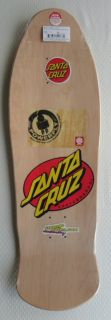 Santa Cruz Rob Roskopp Skateboard Reissue Deck NIS Natural Stain
