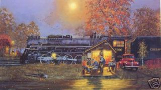 gallery now free dave barnhouse steam train print passing time