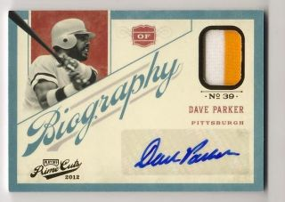 DAVE PARKER 2012 PLAYOFF PRIME CUTS AUTO PATCH BIOGRAPHY 3 25