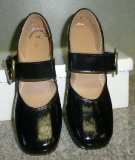 Vtg 60s 70s Womens Black Patent Leather Holiday Dress New Shoes GR8