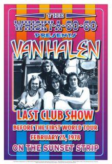 David Lee Roth Van Halen at the Whisky A Go Go Concert Poster Circa