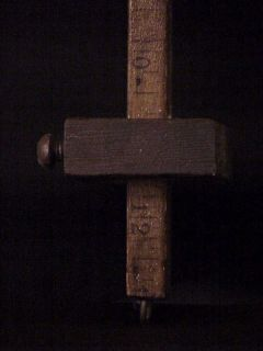Antique 12 Wood Scribe Measuring Wooden Tool and Plumb Decorative