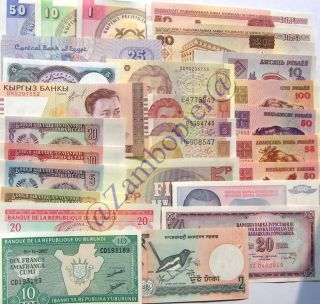New Paper Money 100 World Banknotes UNC High Quality